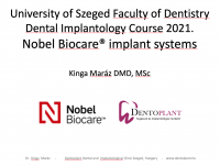 2. Dentoplant Nobel előadás Dr. Maráz Kinga Szeged